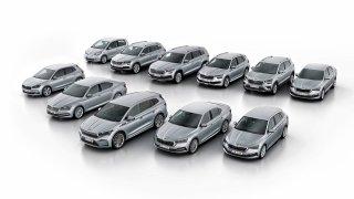 paleta vozů Škoda 2021