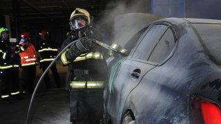 Požár hybridu