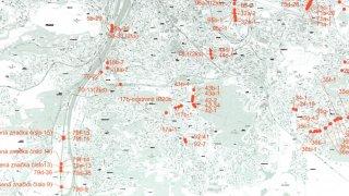 Mapa změna pruhů