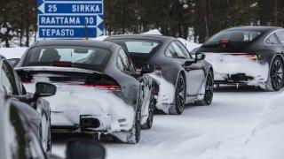 Porsche 911 testování prototypů osmé generace