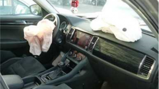 Nabouraná Škoda Kodiaq