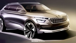 První skica modelu Škoda Kamiq ukazuje nové designové prvky