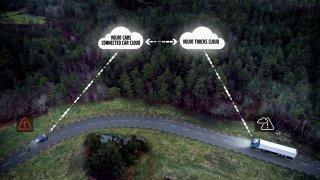 Volvo Cars a Volvo Trucks sdílení dopravních infor