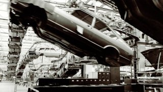 Výroba vozidel Volkswagen Passat v závodě Emden v