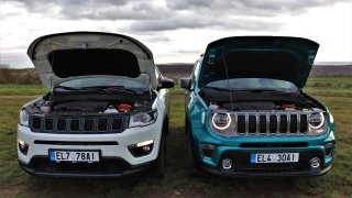 Jeep Renegade 4xe a Jeep Compass 4xe