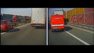 Hasiči se kvůli chování řidičů kamiónů nemohli na D1 dostat k jejich zraněným kolegům