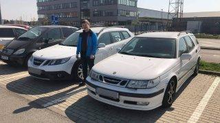Peter Chomanič se svými saaby