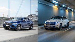 Budoucnost vs. minulost? Porovnali jsme elektrický Mercedes EQC s benzinovým GLC kupé