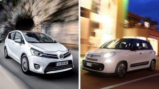 Ojetá MPV Fiat 500L a Toyota Verso jsou lepší volbou než oblíbenější konkurenti Touran či Scénic