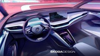 Plně elektrická Škoda Enyaq iV nabídne stylový interiér jak ze severského bytového studia