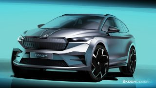 Škoda zveřejnila první skici nového modelu Enyaq iV. Elektromobil bude vyšší než běžná SUV