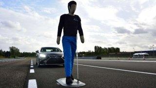 Test systému upozorňujícího na chodce