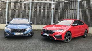 Srovnávací test Škoda Octavia RS iV vs. Škoda Octavia Combi iV: Elektřina dává smysl jenom u jedné