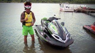 Test vodních skútrů Kawasaki