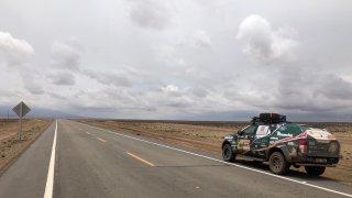 Nečekaně kvalitní silnice po cestě Peru - Bolívie