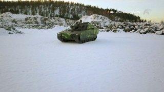Test bojového vozidla pěchoty BAE Systems CV90
