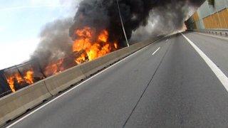 Požár D1