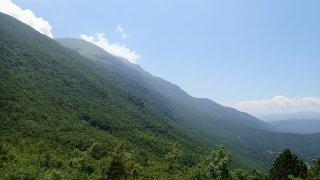 Cesta vede přes národní park Galichica