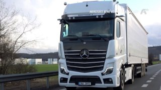 Test tahače Mercedes-Benz Actros