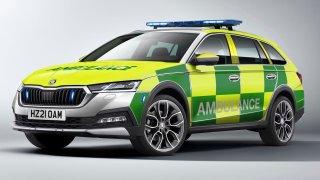 Britští záchranáři budou jezdit Škodou Octavia Scout. Přitom se na tamním trhu vůbec neprodává