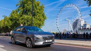 Hyundai NEXO čistí ulice v Londýně