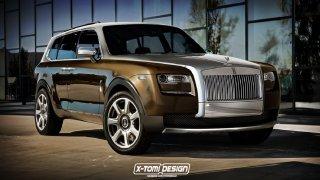 Rolls-Royce neuhlídal své nové SUV, ukázal první tvary
