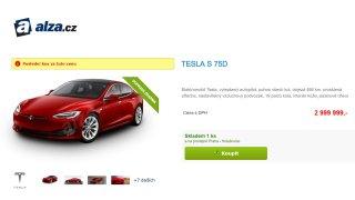 Alza začala prodávat elektromobily Tesla. Má jich zatím jen pár