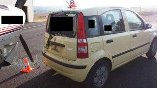 Fiat po střetu s Cessnou