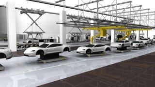 Porsche - flexibilní výrobní linka
