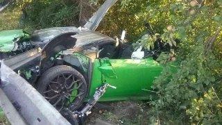 Srážka lamborghini s fabií skončila tragicky pro řidiče supersportu. Posádka škodovky přežila