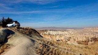 Kapadokia Fotr na sněhu