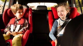 Přeprava dětí v autě