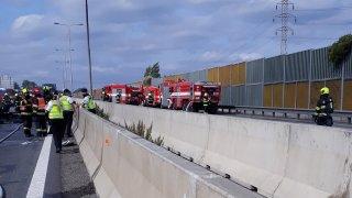 Na D1 u Brna došlo k tragické hromadné nehodě. Zemřeli tři lidé