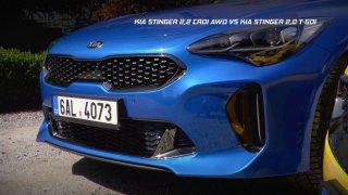 Srovnávací test vozů Kia Stinger 2,2 CRDi AWD vs. Kia Stinger 2,0 T-GDi