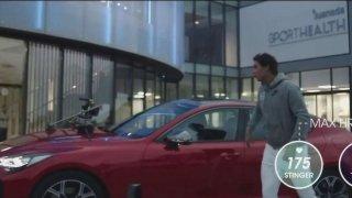 Kia Stinger dokázala zvýšit tepovou frekvenci Rafaela Nadala až na 175 úderů za minutu