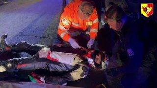 """Video: Střelba, zpomalovací pásy, havárie, zranění. Na co se může """"těšit"""" řidič, který prchá policii"""