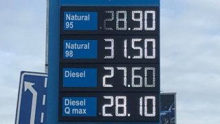 Cena benzinu, leden 2021