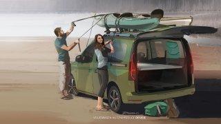 Volkswagen rozšiřuje nabídku svých obytných vozů. Caddy Beach nastoupí na vlnu větší Californie