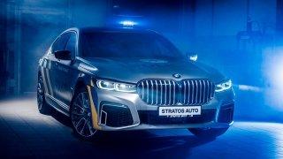 Policisté budou dohlížet na provoz v luxusních BMW řady 7 v prodloužené verzi částečně na elektřinu