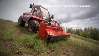 Test sekaček trávy u dálnic Spider a Reform