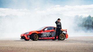 Rekordní drift Toyoty GT86 byl vidět až z nebe