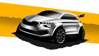 Škoda Kamiq se chystá na rally. Automobilka zveřejnila skicu nového studentského konceptu
