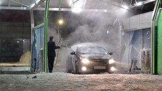 mytí auta v zimě