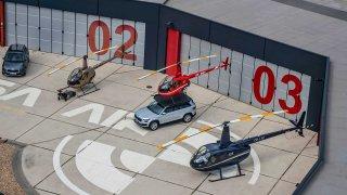 Škoda Kodiaq a vrtulník