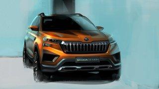 Nové SUV bude mít svítící nápis ŠKODA na zádi. Vision In ale v Česku nekoupíte