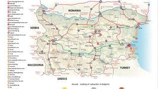 Toto je oficiální mapa bulharských kempů
