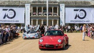 Oslava 70 let sportovních vozů Porsche proběhla i v Goodwoodu