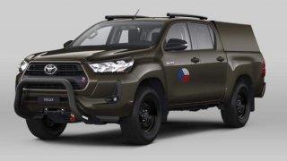 Vizualizace armádní Toyota Hilux