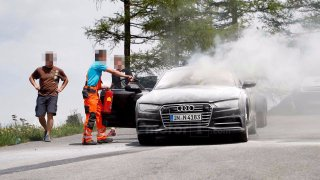 Při testování v Alpách lehlo nové Audi A7 popelem