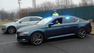 Škoda Superb policie